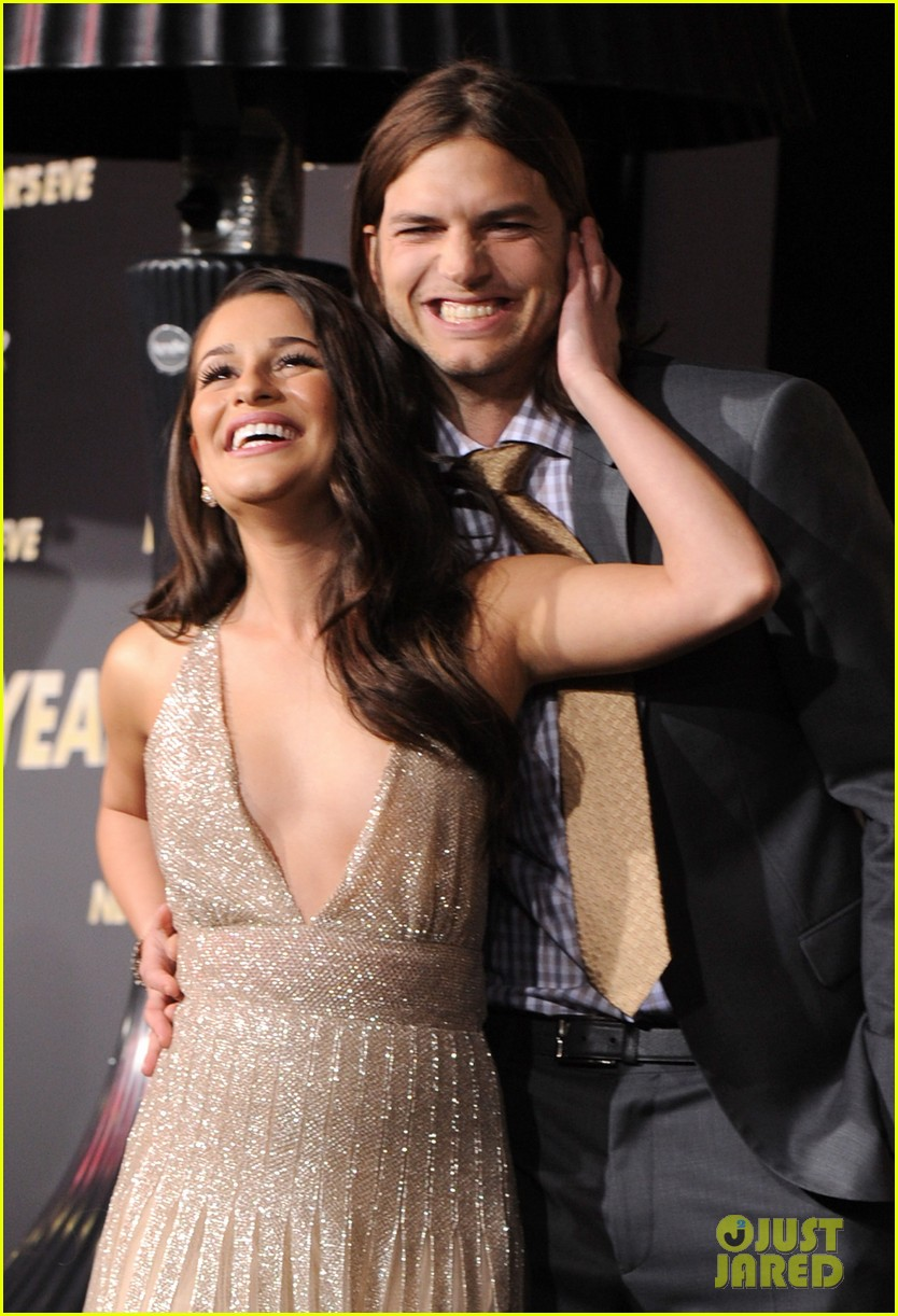 lea michele ashton kutcher nye premiere 01