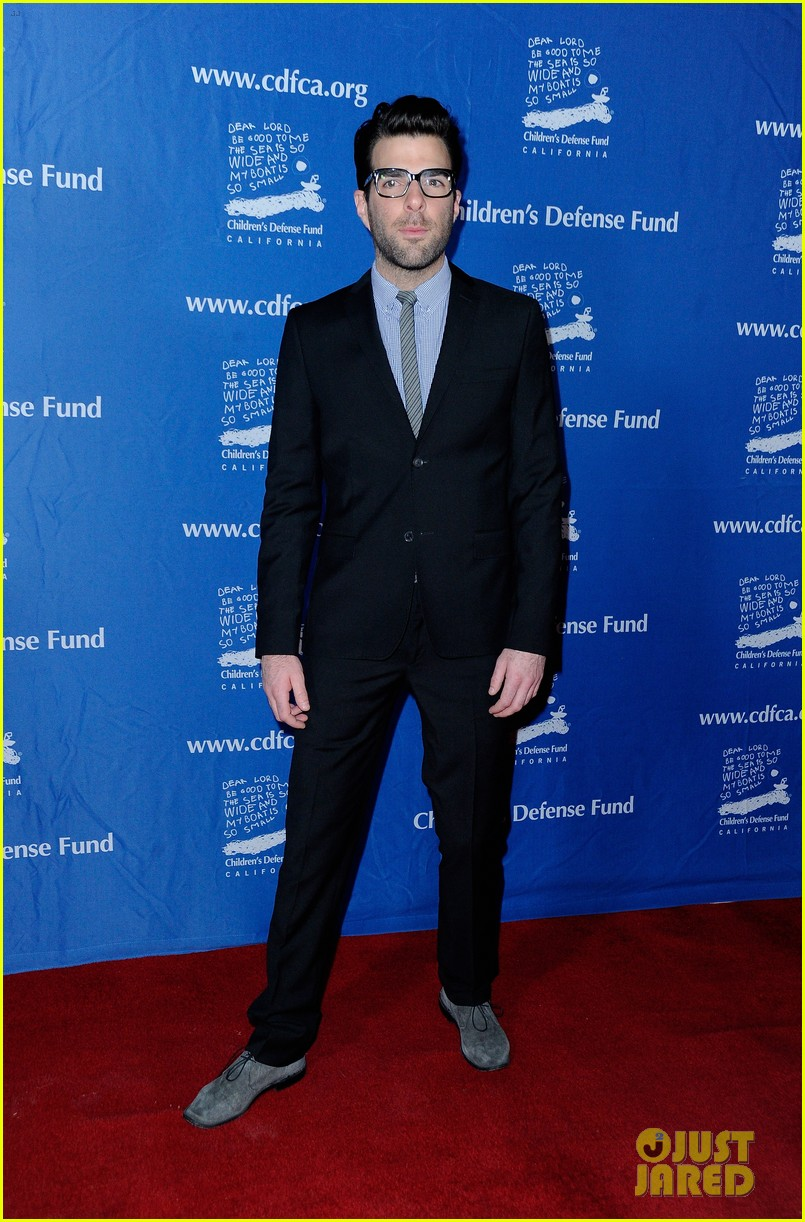 zoe saldana childrens defense fund with zachary quinto 05