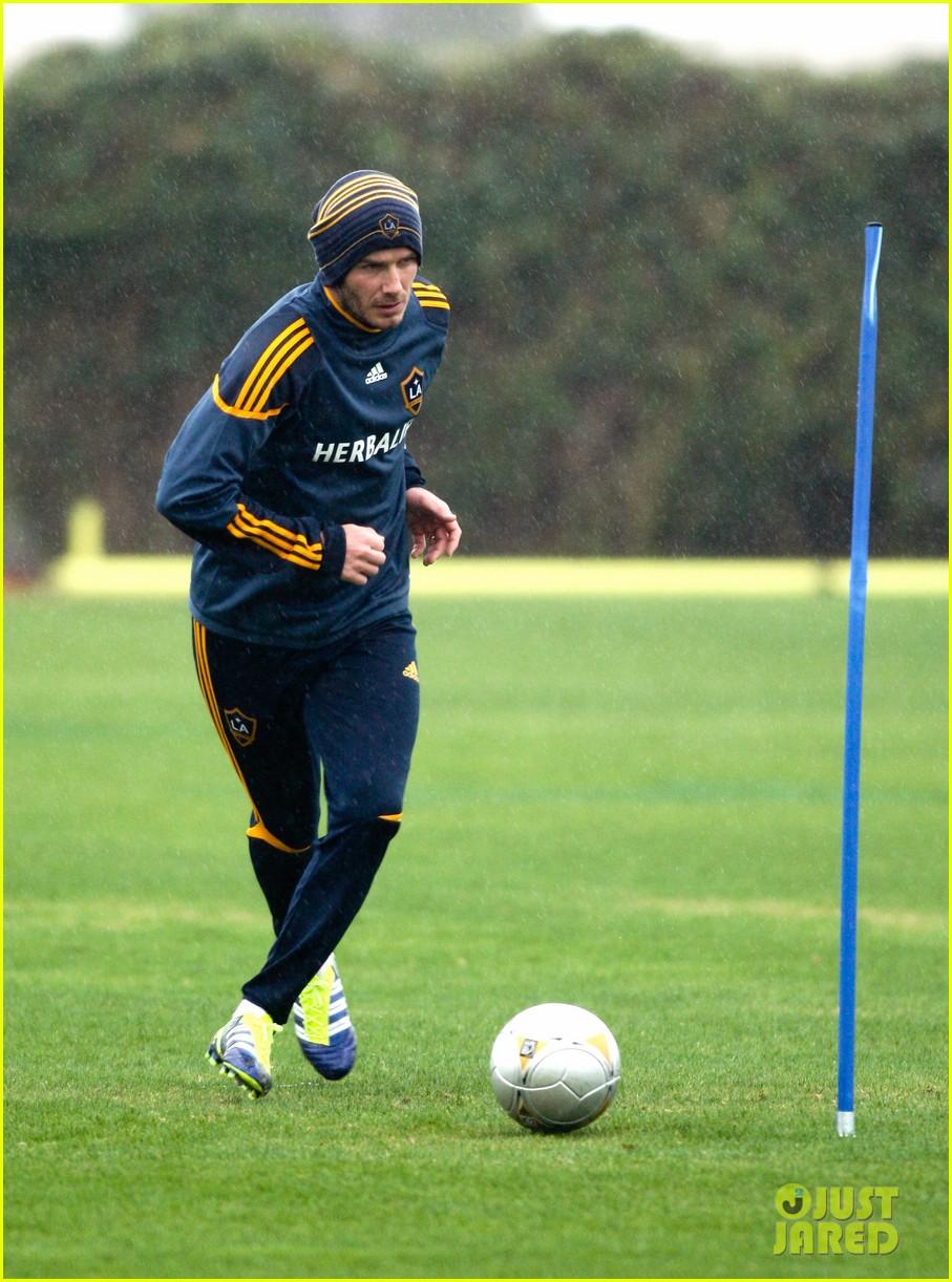 david beckham soccer practice 08