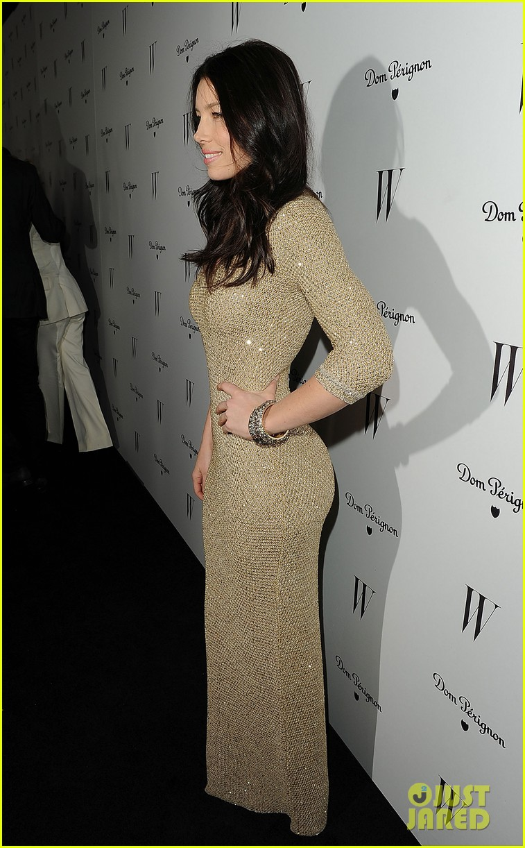 jessica biel charlize theron w mag party 21