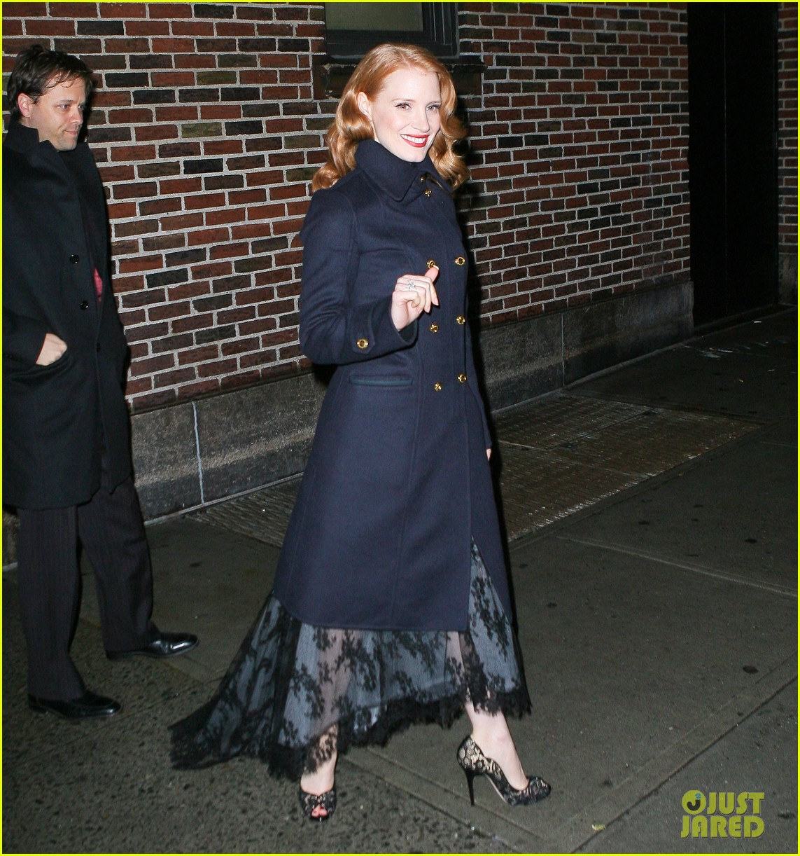jessica chastain letterman 06