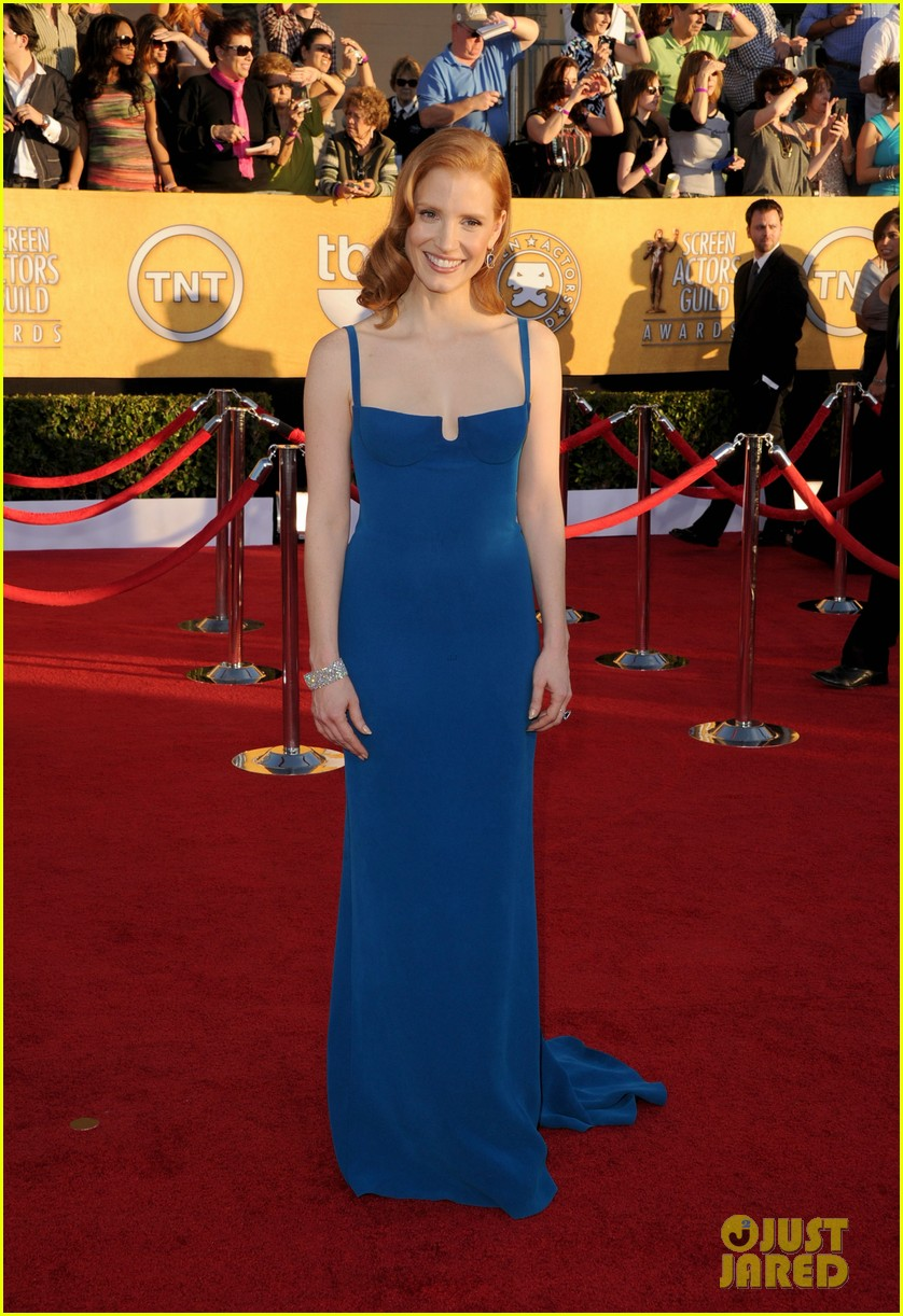 jessica chastain sag awards 2012 02
