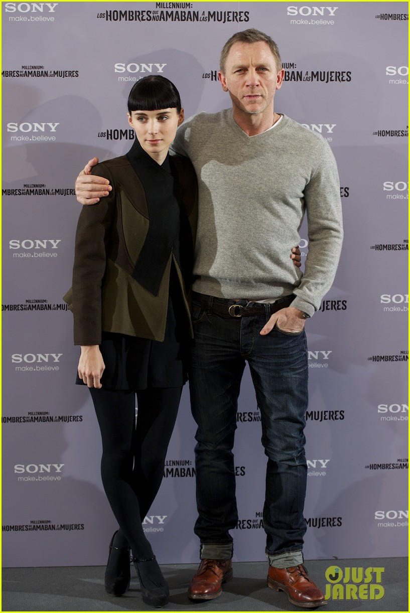 daniel craig rooney mara dragon tattoo madrid photo call 12