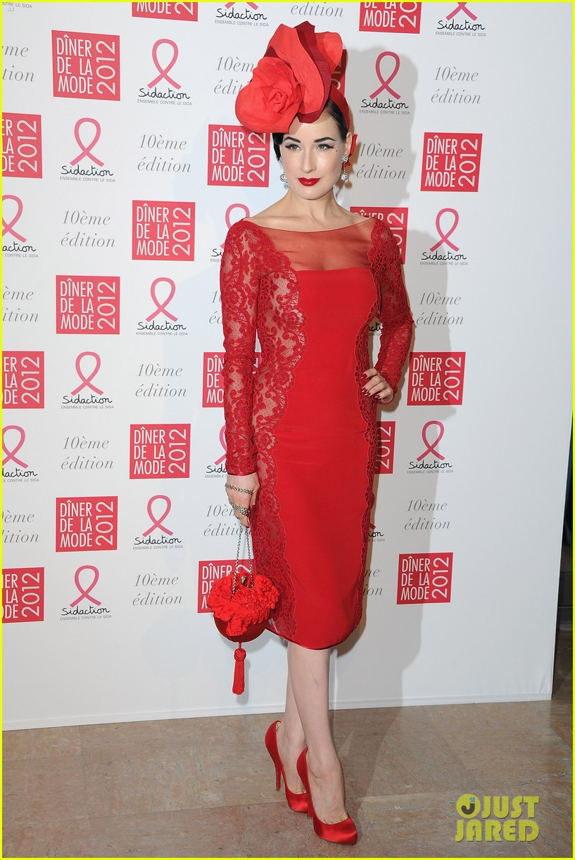 diane kruger dita von teese sidaction dinner 08