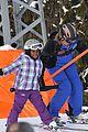 madonna kids skiing switzerland 04