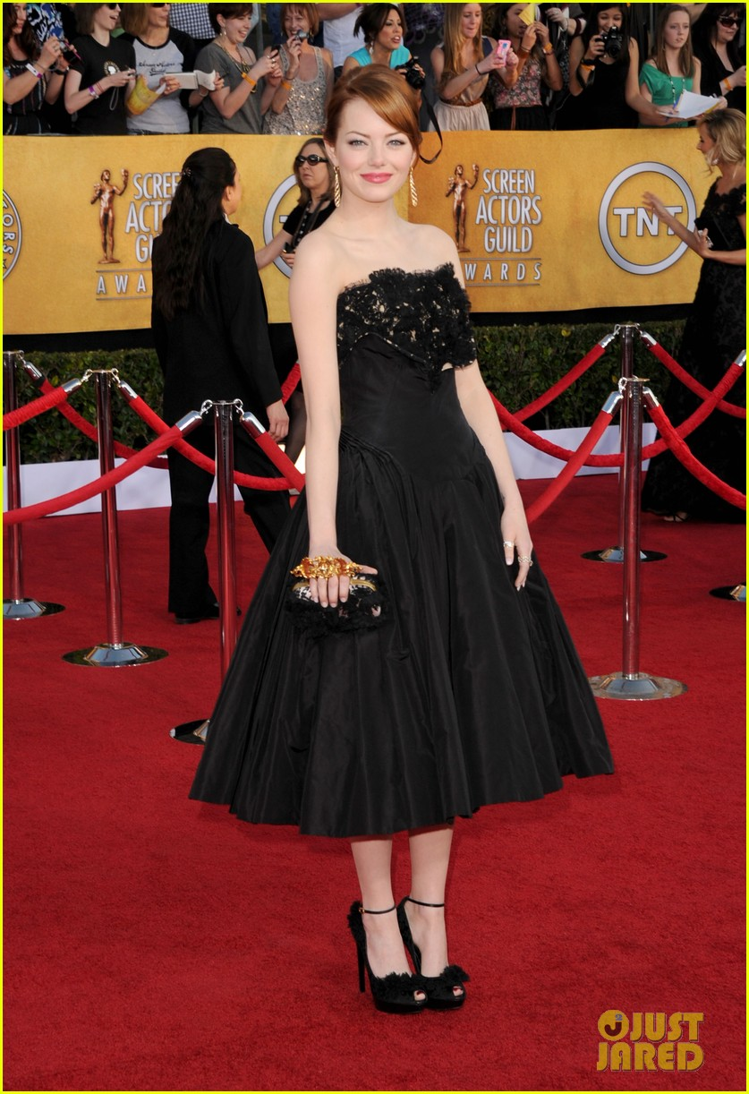emma stone sag awards 2012 08