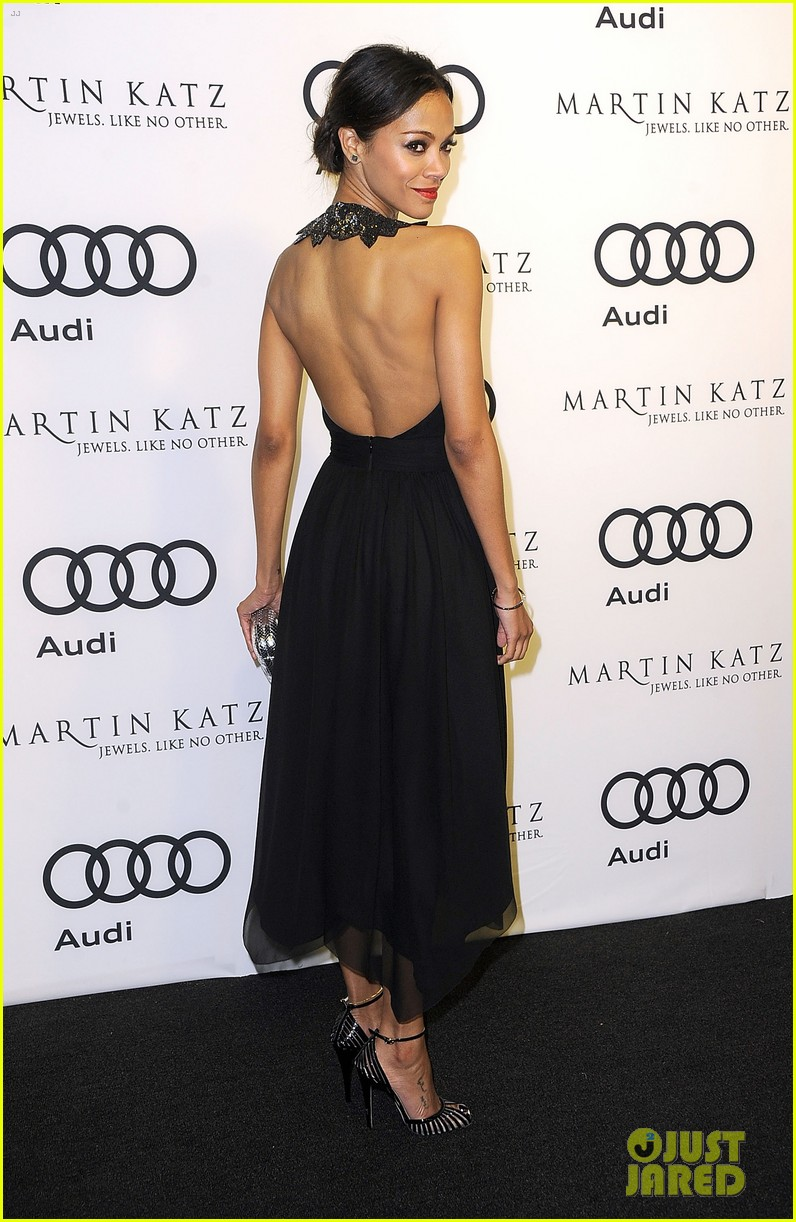 zoe saldana audi 2012 golden globe kick off party 08