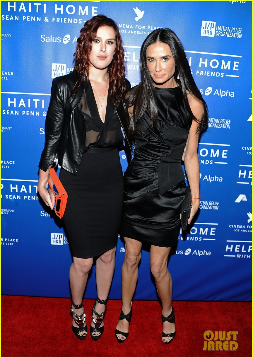 demi moore rumer willis haiti benefit 012618831