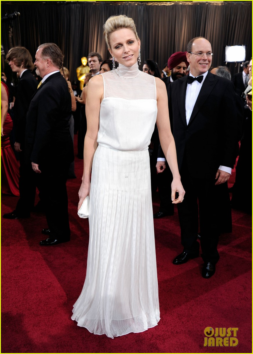 princess charlene prince albert oscars 2012 red carpet 032633590