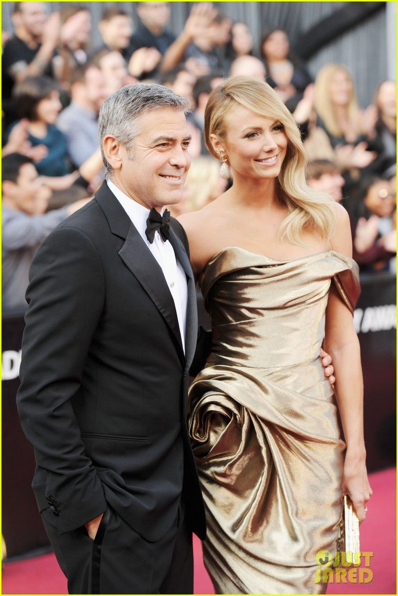 george clooney stacy keibler oscars 2012 05