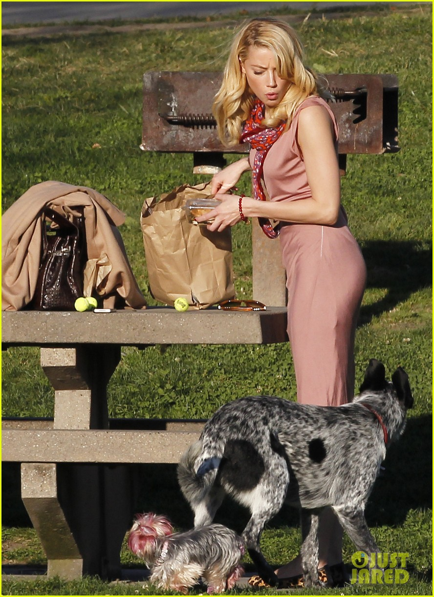 amber heard shopping picnic 13