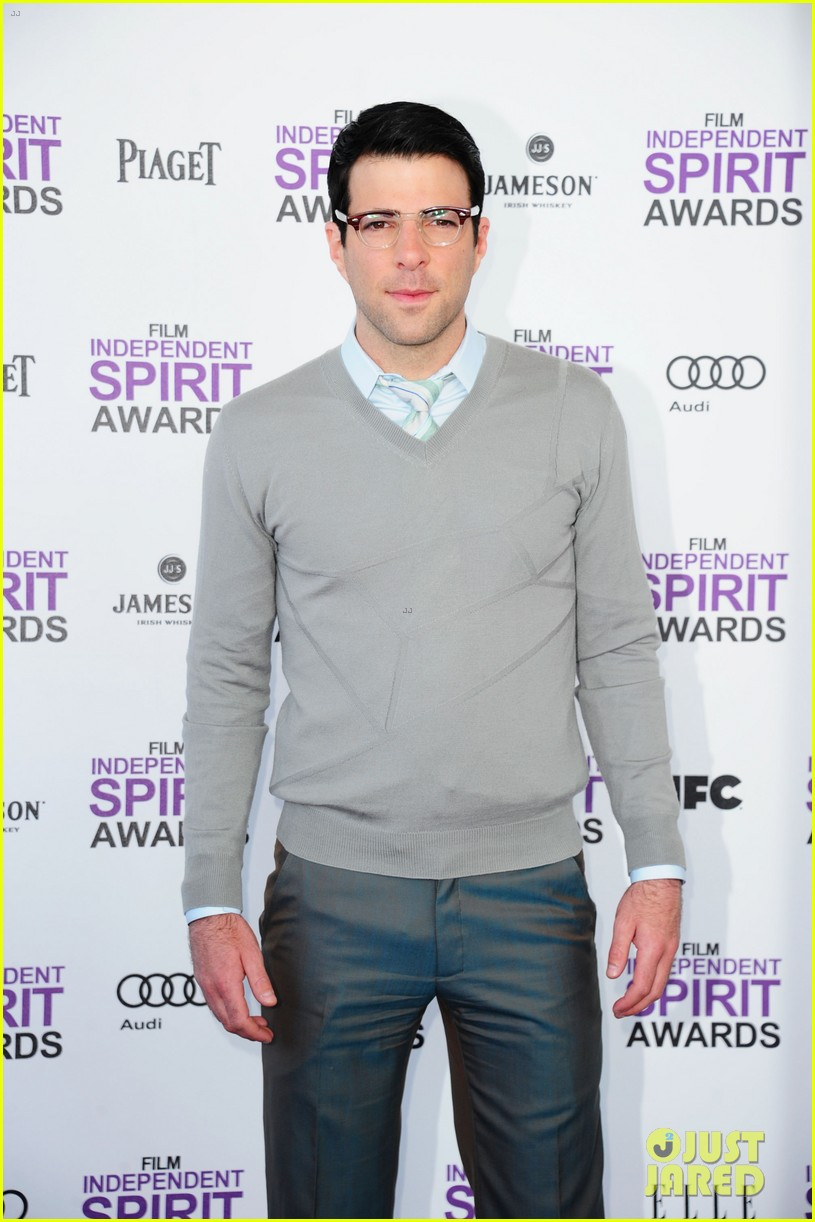 ian somerhalder zachary quinto spirit awards 2012 13