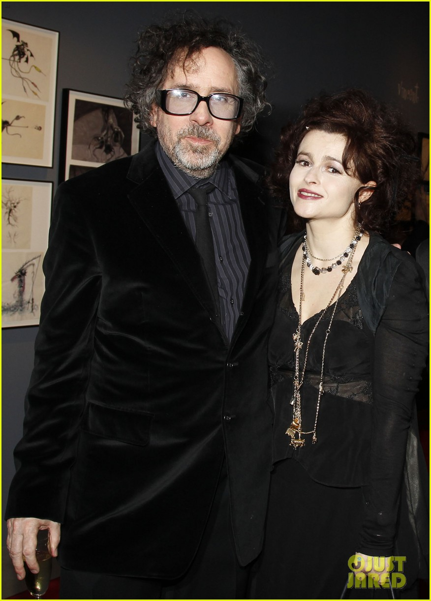 helena bonham carter tim burton exhibition with eva green 03