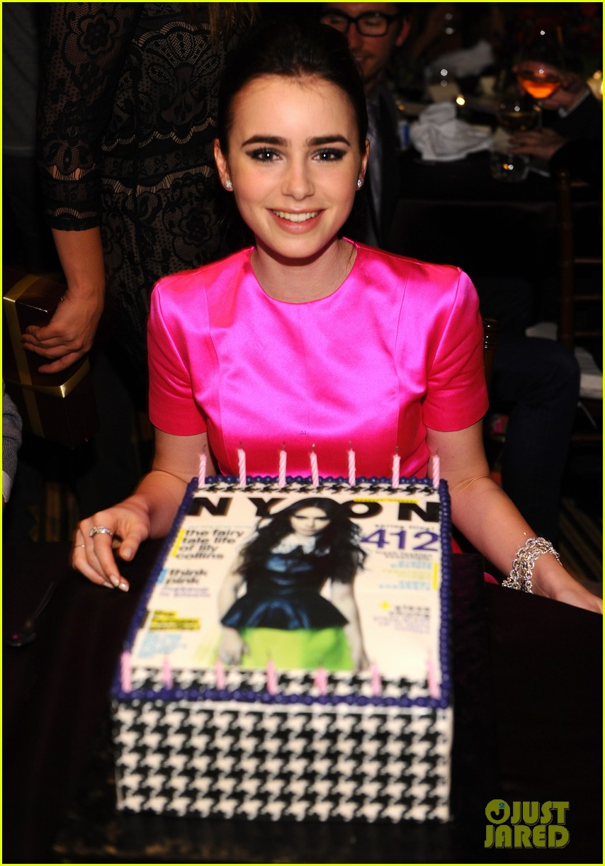 lily collins nylon cover party 02