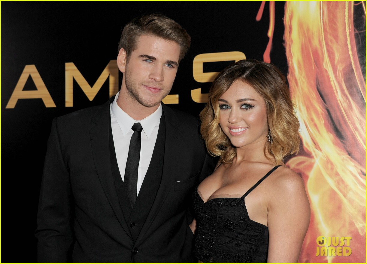 miley cyrus liam hemsworth josh hutcherson hunger games premiere 02