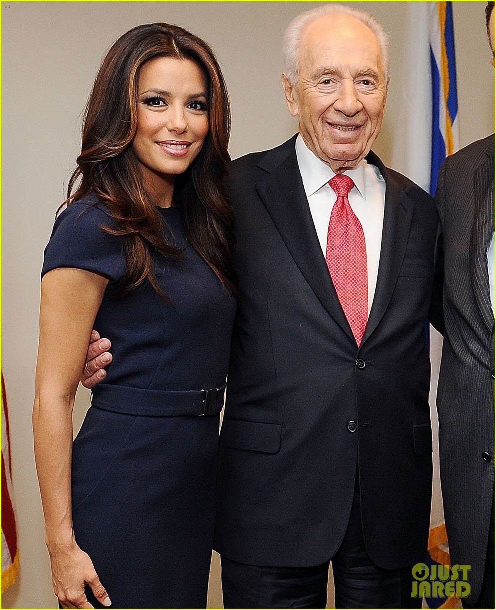 eva longoria shimon peres latino jewish leaders meeting 03
