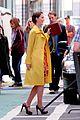 leighton meester yellow coat gossip girl set 06