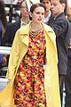 leighton meester yellow coat gossip girl set 13