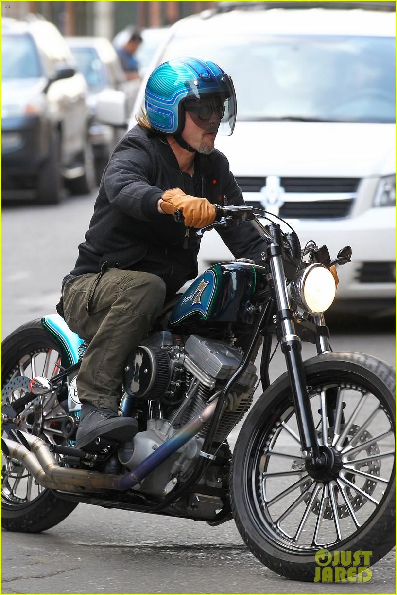 Pics photos brad pitt on motorcycle - Brad Pitt Rides His Bike In The Big Easy Photo 2636905 Angelina Jolie Brad Pitt Celebrity Babies Maddox Jolie Pitt Shiloh Jolie Pitt Zahara Jolie