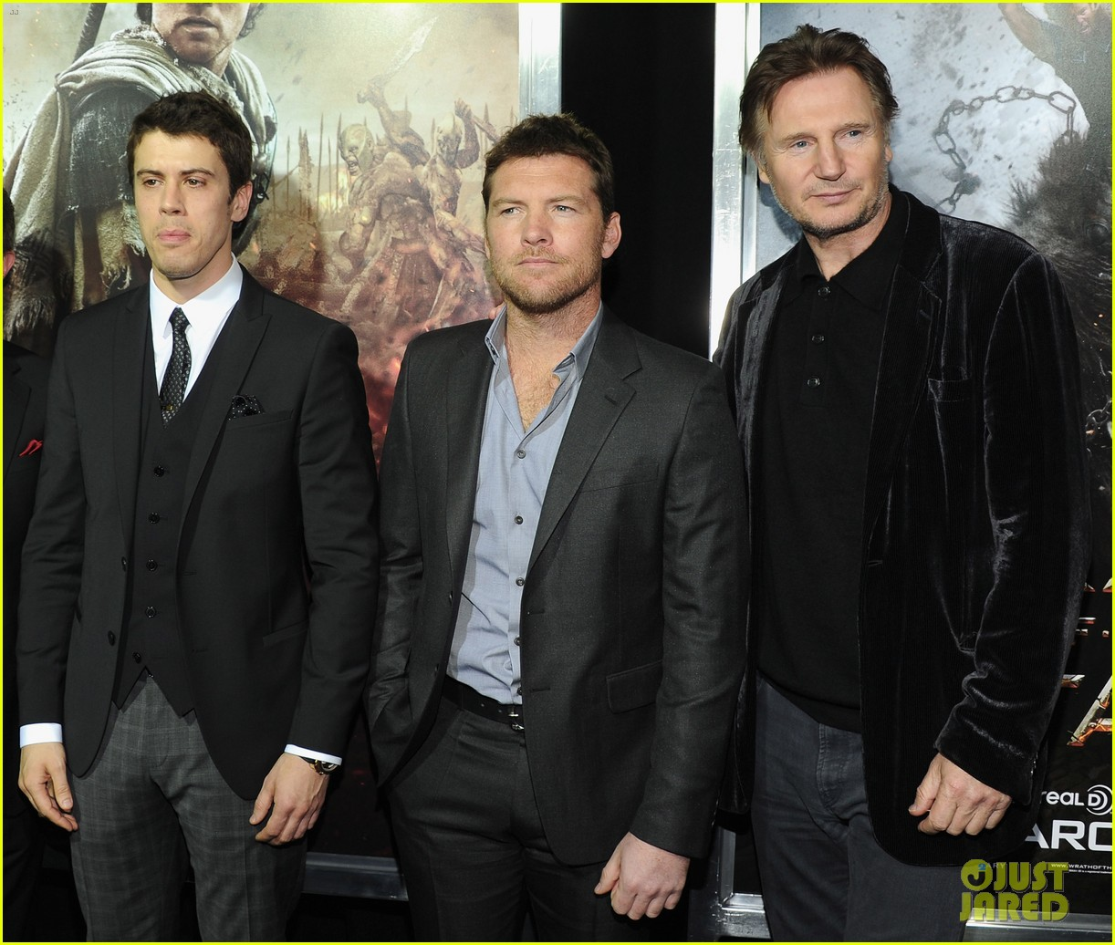 sam worthington liam neeson wrath titans premiere 12