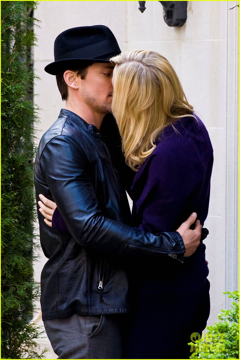 matt bomer laura vandervoort kiss for white collar 062648936