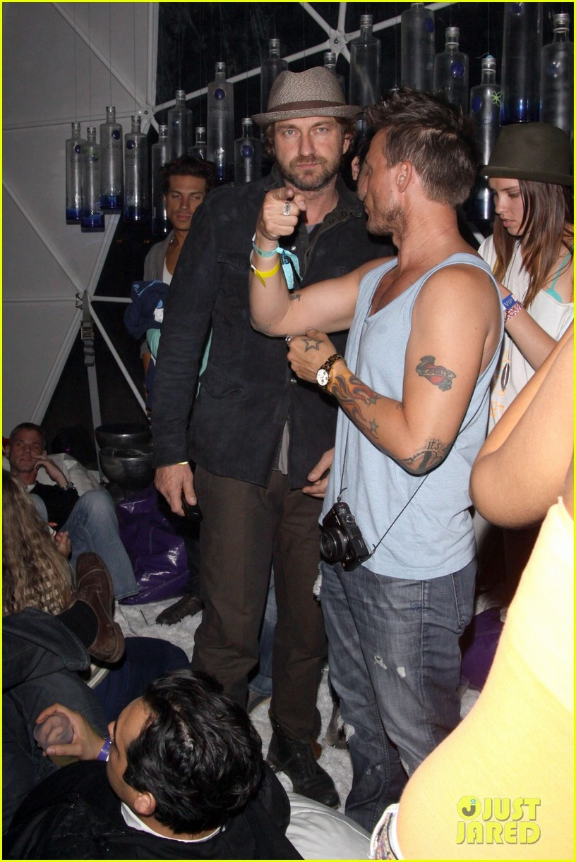 gerard butler coachella after party 05