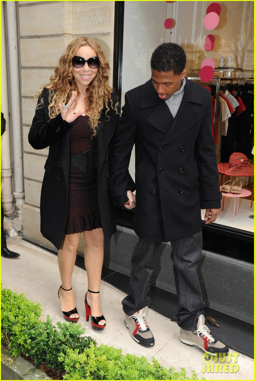 mariah carey nick cannon kiss paris 07