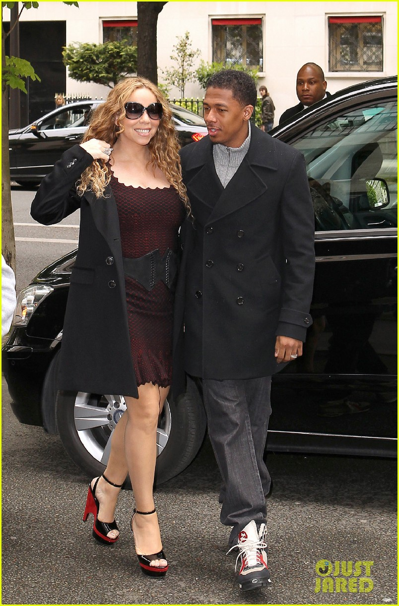 mariah carey nick cannon kiss paris 122654291