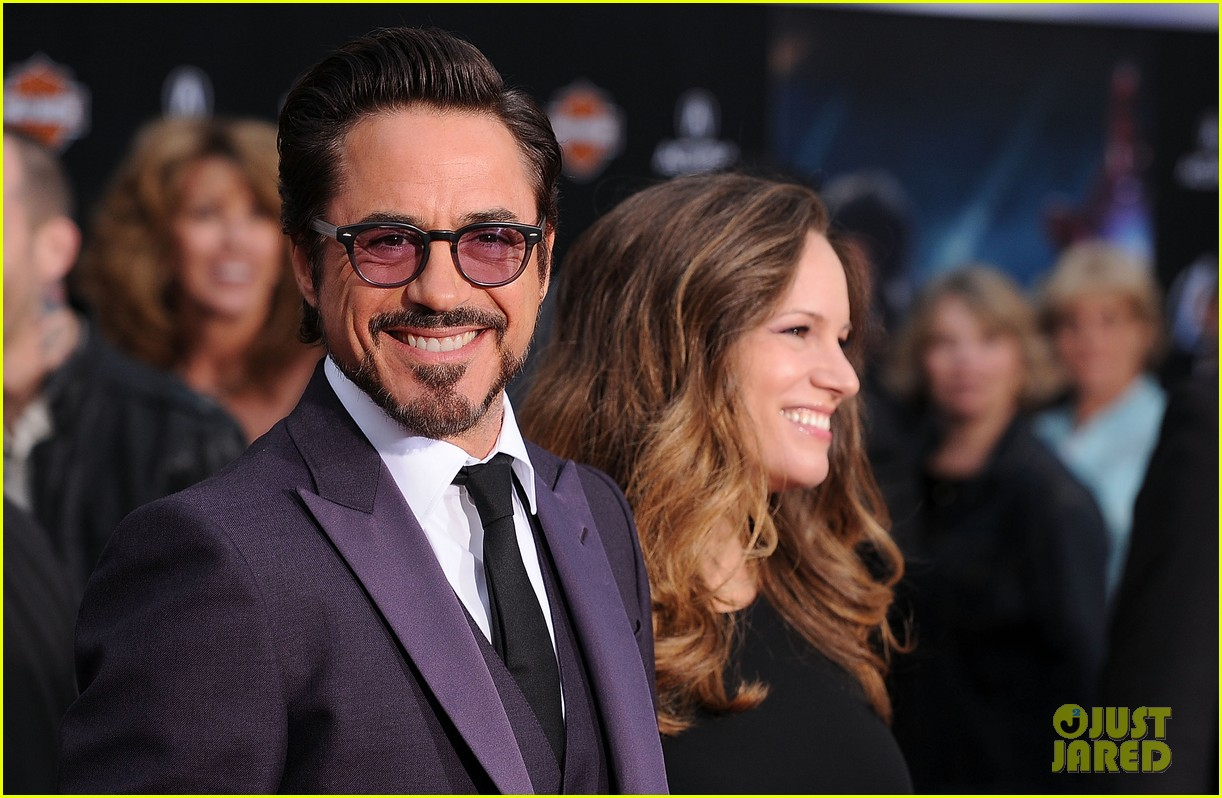 robert downey jr avengers premiere with wife susan 102647845
