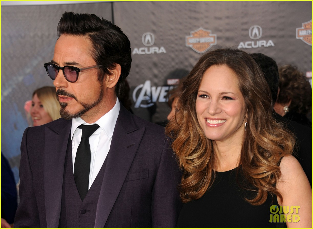 robert downey jr avengers premiere with wife susan 142647849