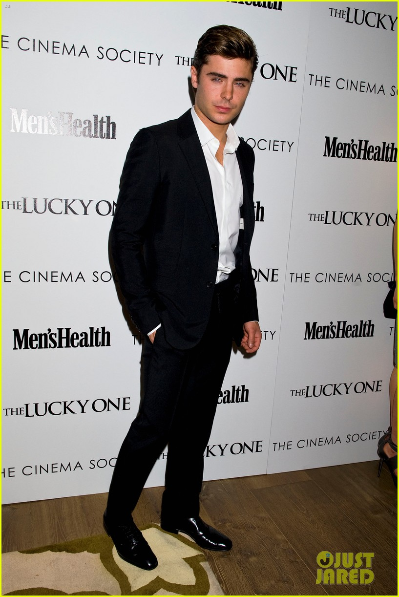 zac efron lucky one nyc screening with taylor schilling 10