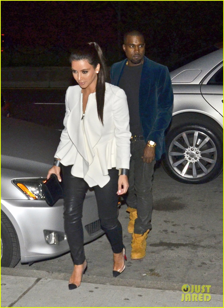 kim kardashian kanye west date night 06