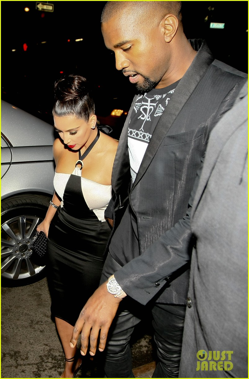 kim kardashian kanye west dinner and a movie 09