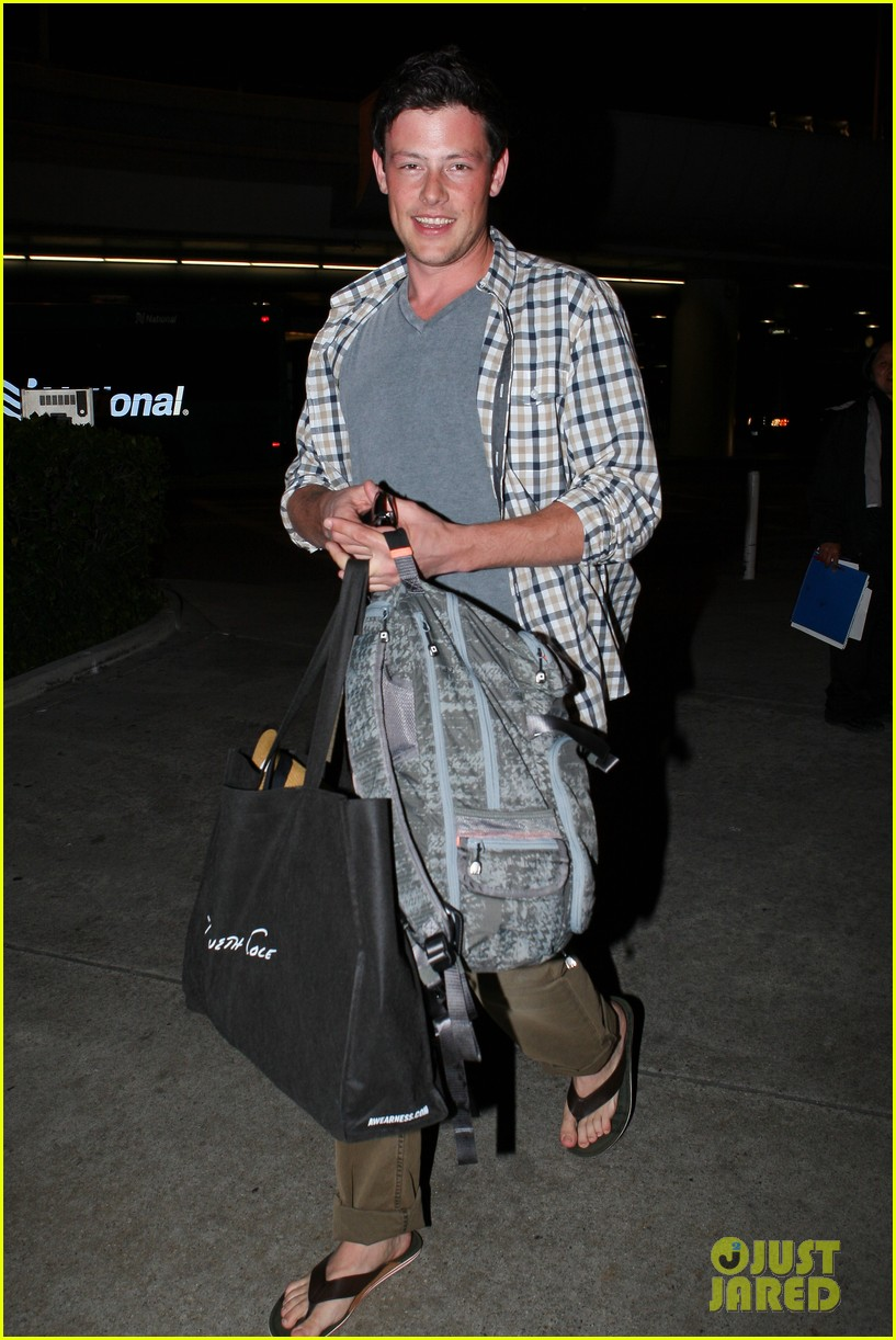 lea michele cory monteith lax 06