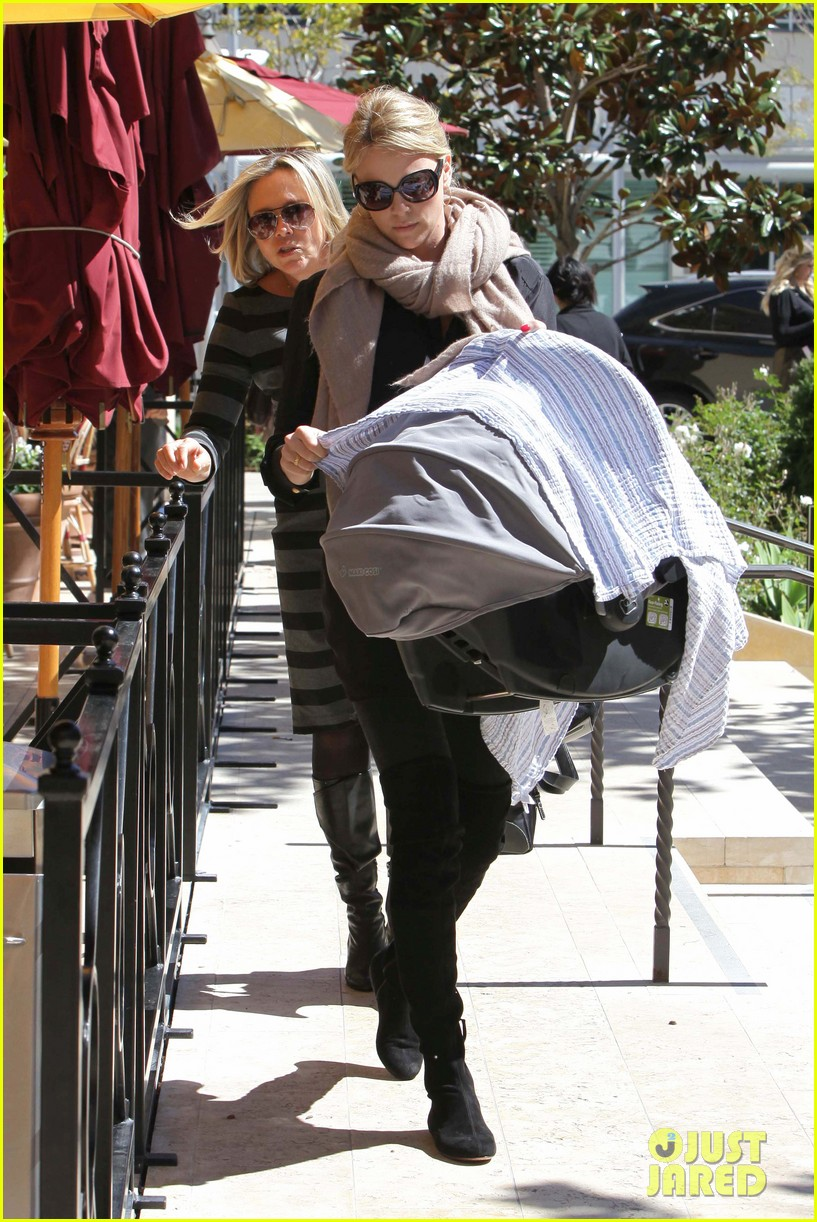 charlize theron out with baby jackson 072644260