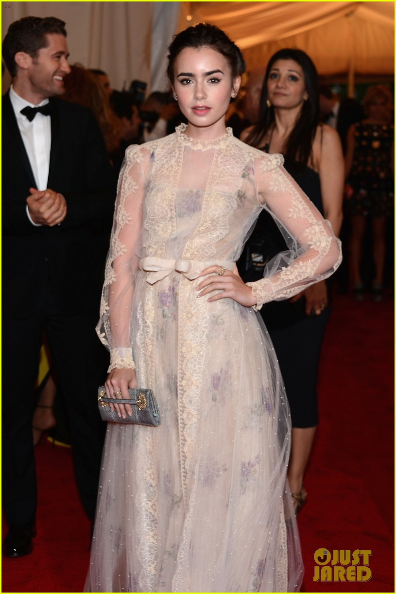 lily collins met ball 2012 05