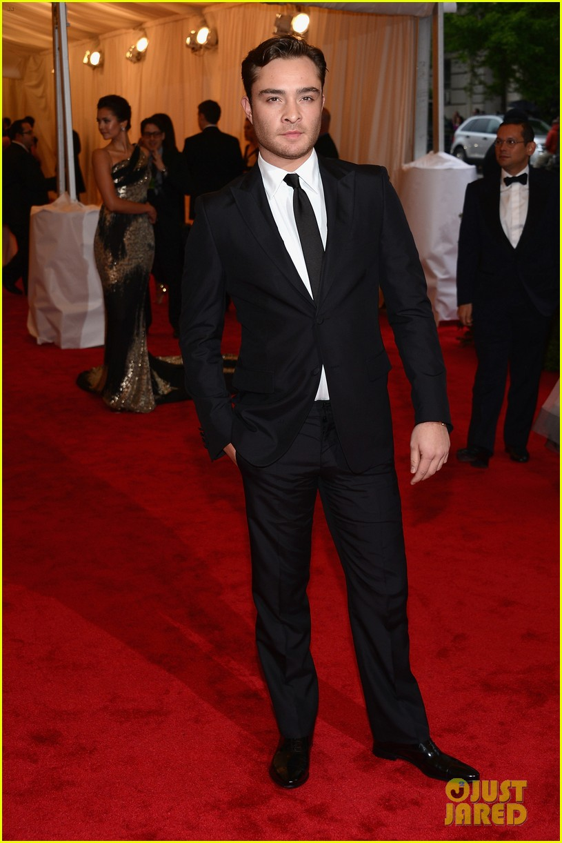 ed westwick chace crawford met ball 2012 03