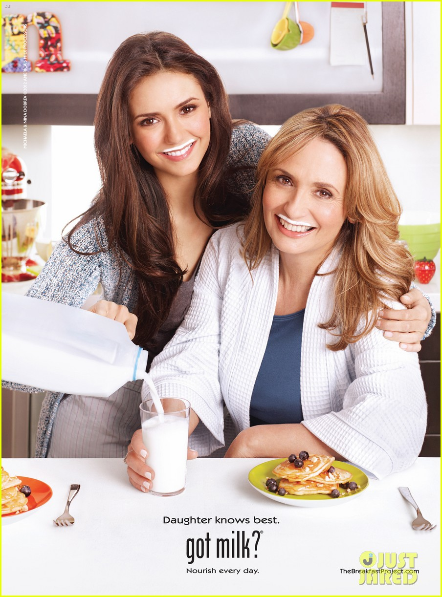 nina dobrev mom michaela got milk 01