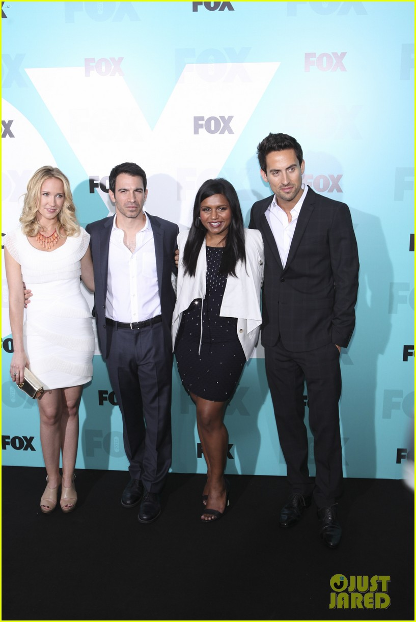 mindy kaling fox upfront with the mindy project cast 02