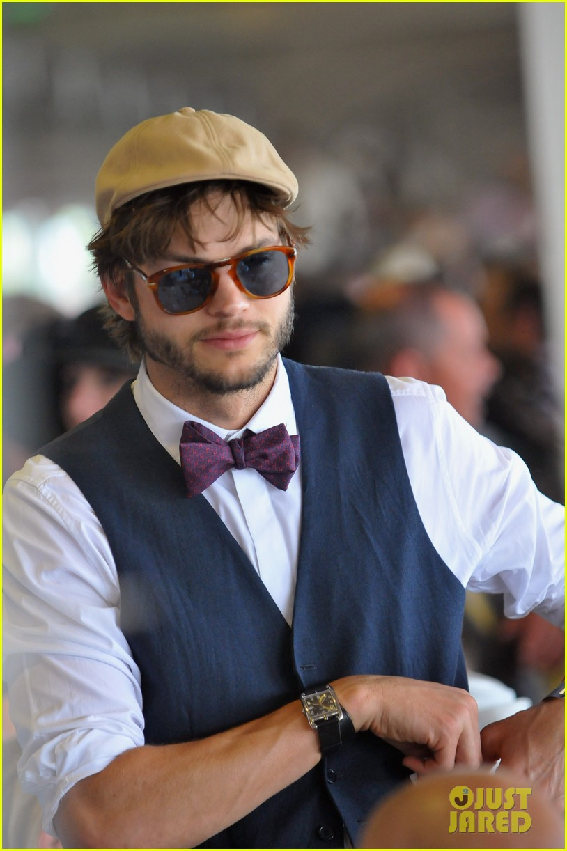 ashton kutcher kentucky derby tom brady 03