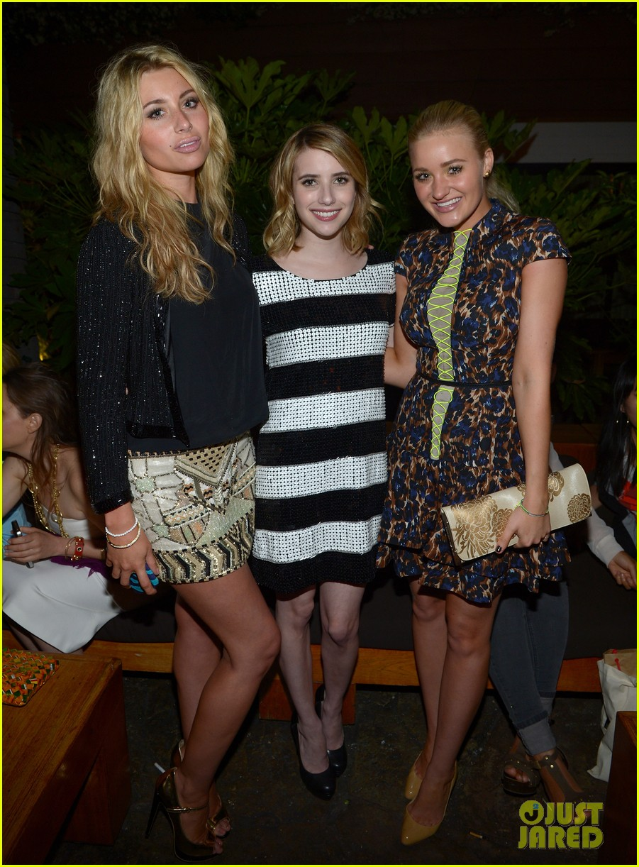 emma roberts chord overstreet nylons young hollywood party 03
