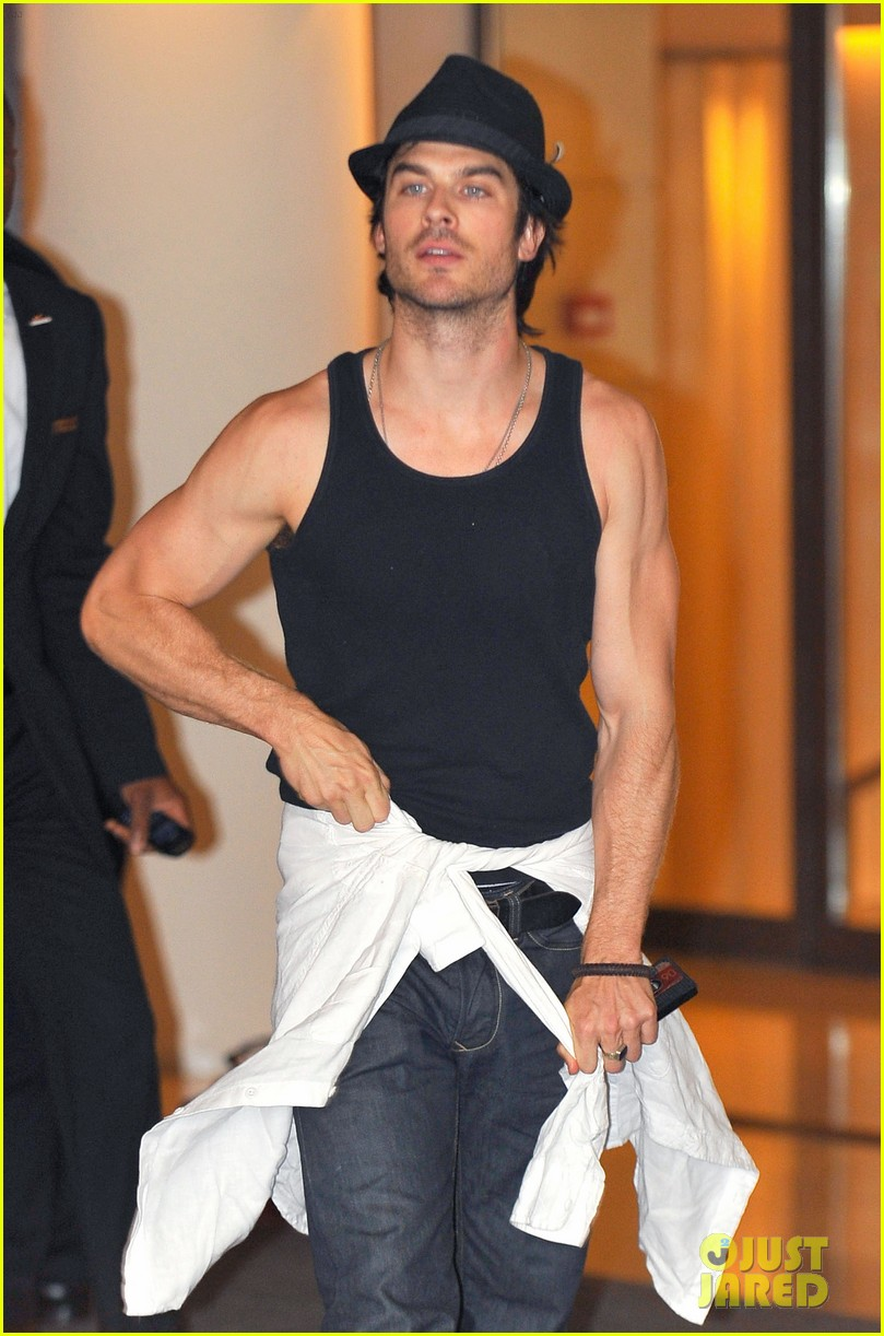 ian somerhalder leaves paris hotel 012667924