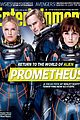 charlize theron prometheus covers entertainment weekly 10