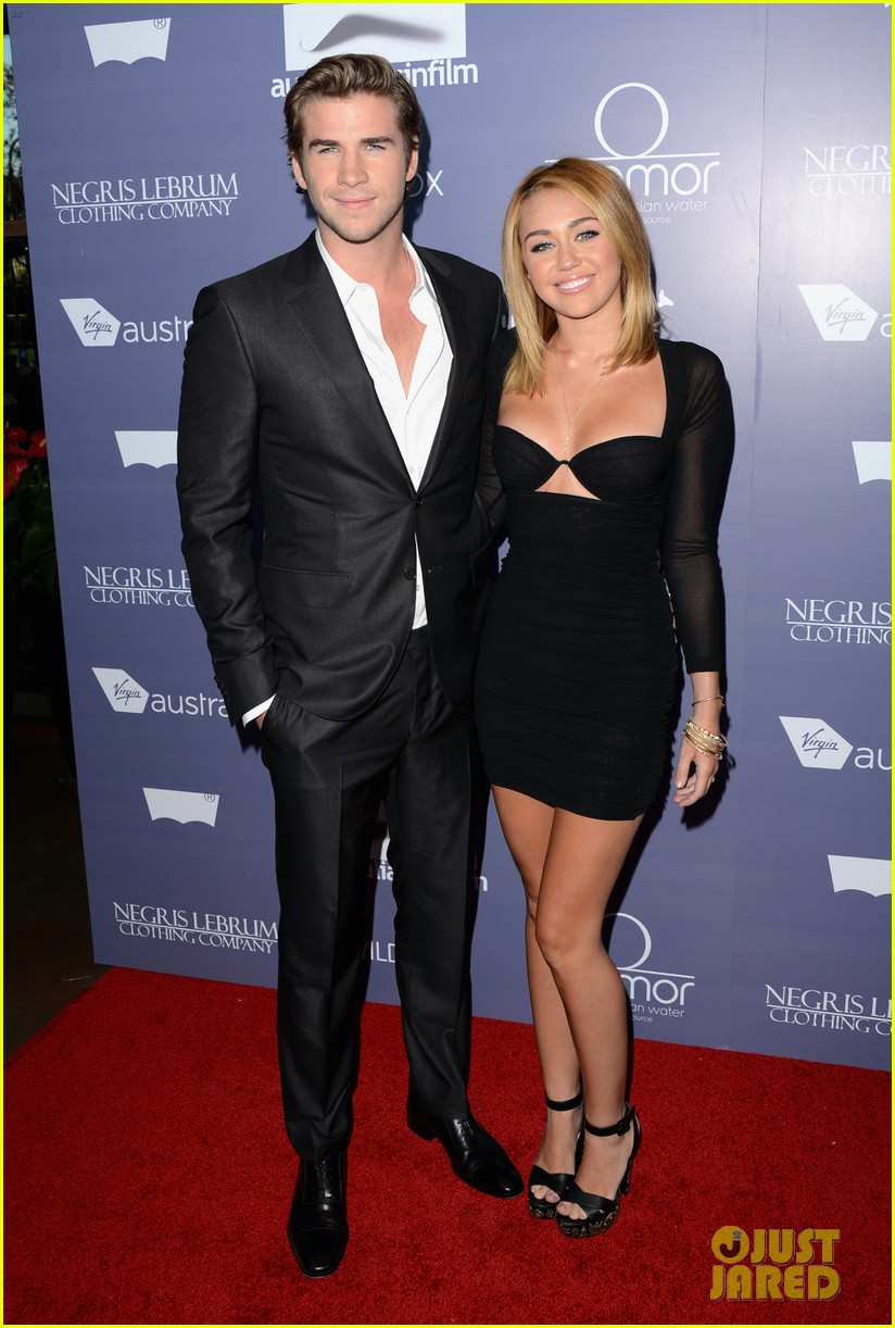 miley cyrus liam hemsworth australians in film awards 06