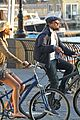 leonardo dicaprio erin heatherton biking twosome 05