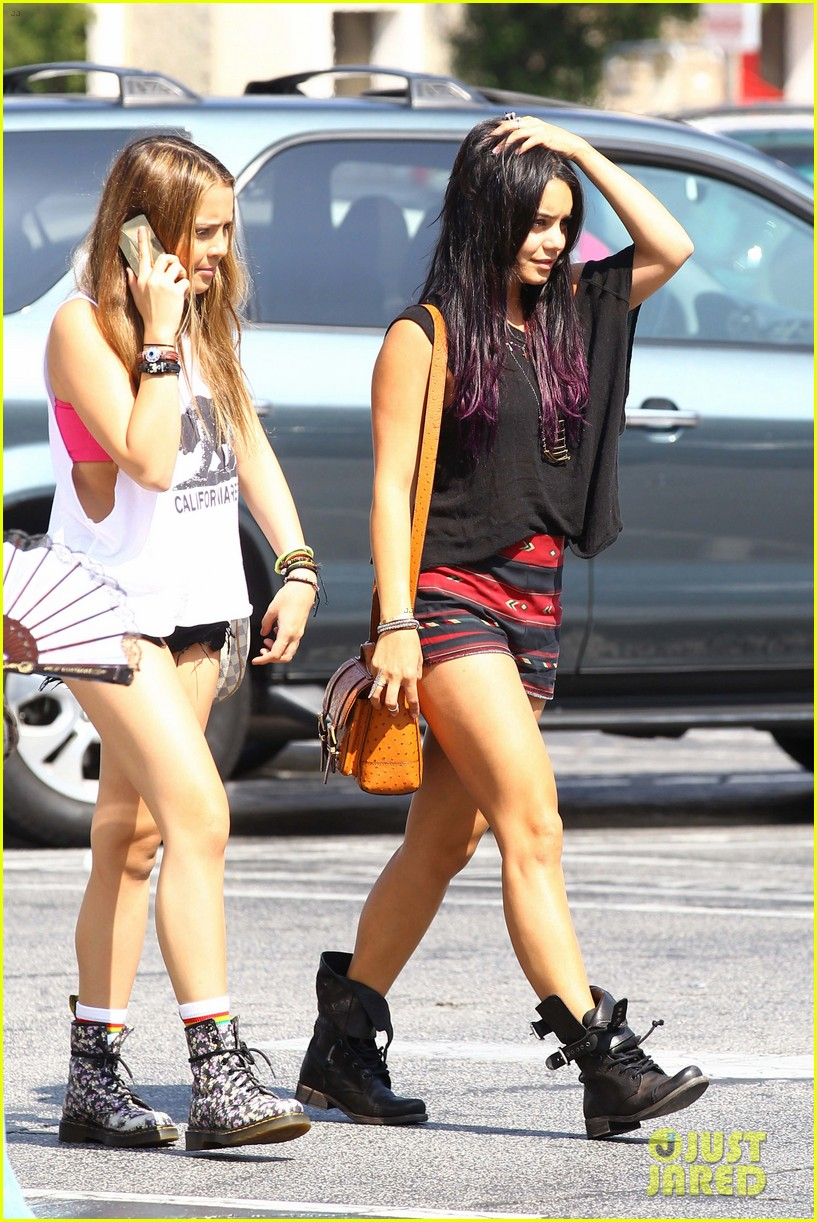 hudgens purple hair 14