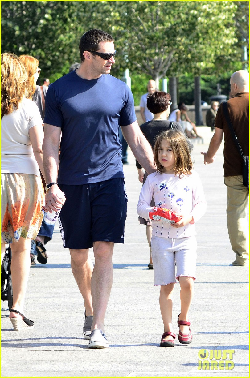 hugh jackman fathers day walk 16
