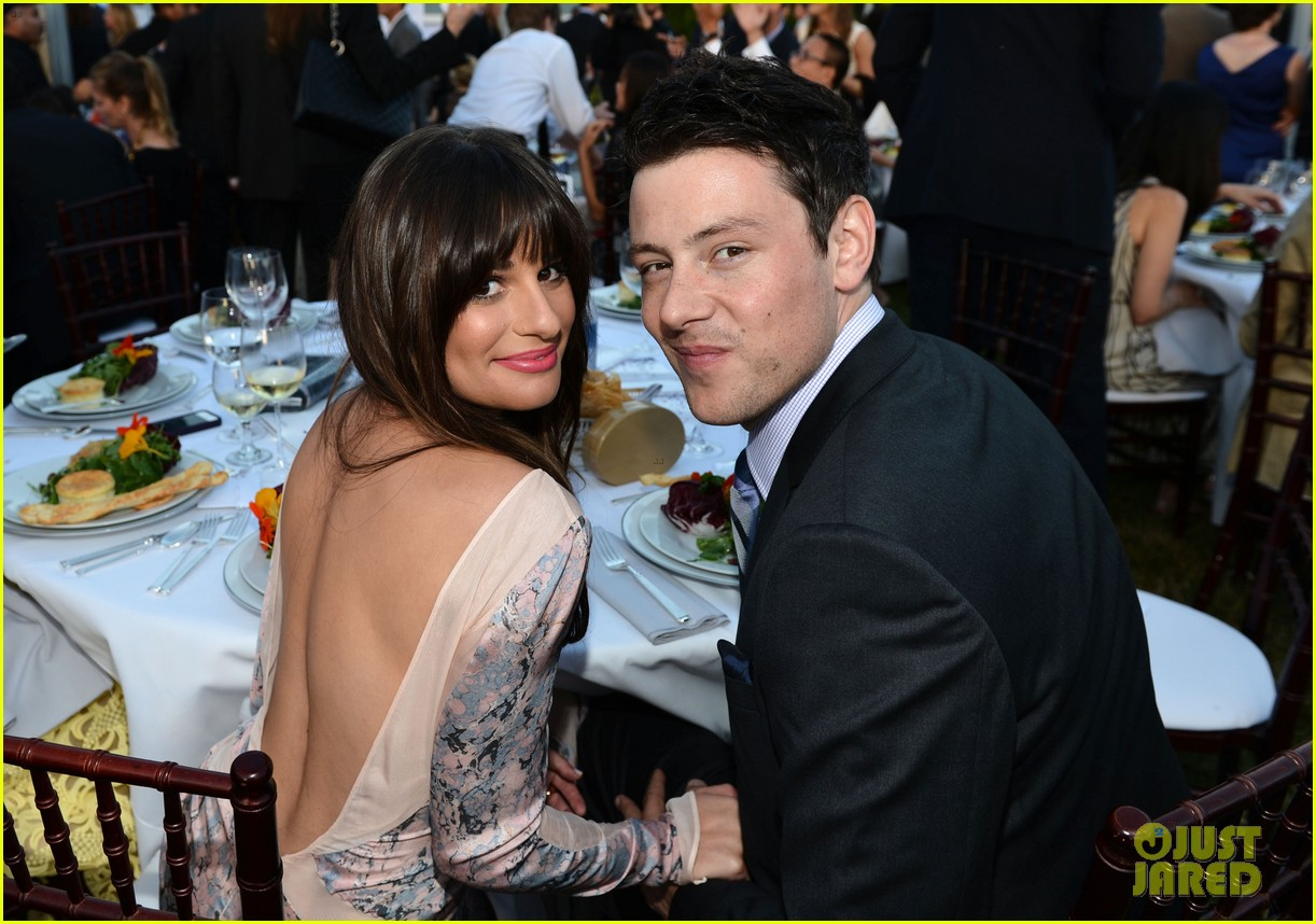 lea michele chrysalis butterfly ball with cory monteith 02
