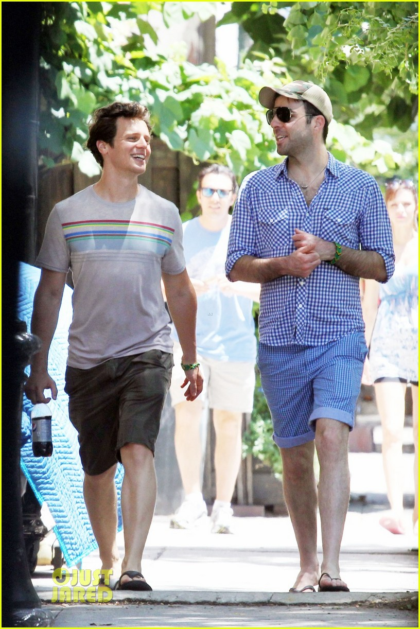 zachary quinto jonathan groff same t shirt 08