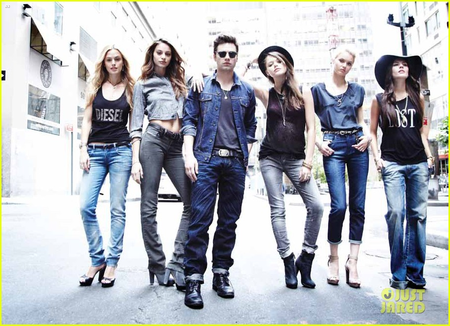 sebastian stan flaunt denim issue 02